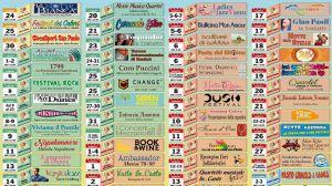 Calendario eventi estivi