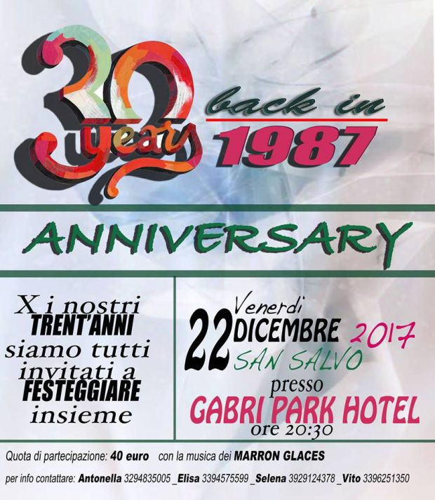 Festa dei 30enni