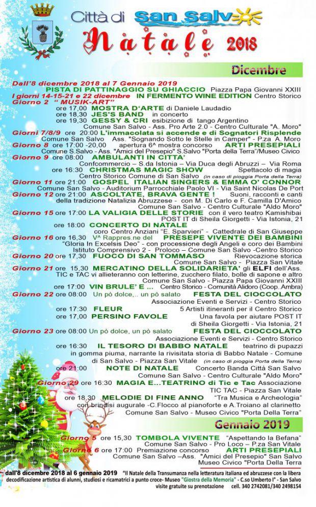 Il programma completo delle manifestazioni natalizie a San