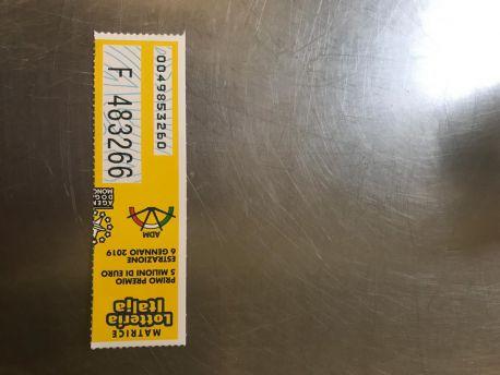 Biglietto vincente lotteria italia