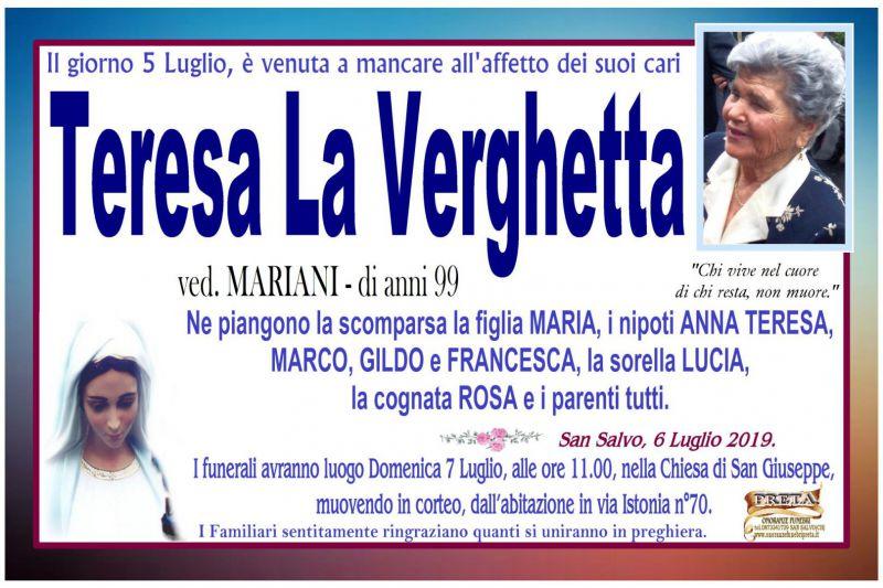 Teresa La Verghetta 6/07/2019