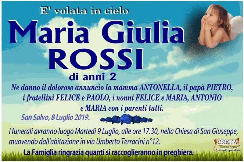 Maria Giulia Rossi 8/07/2019