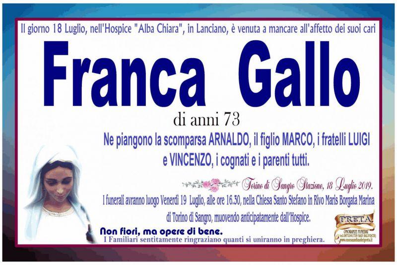 Franca Gallo 18/07/2019