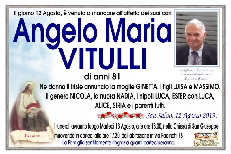 Angelo Maria Vitulli 12/08/2019