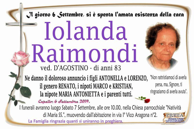 Iolanda Raimondi 6/09/2019
