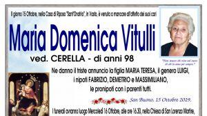 Maria Domenica Vitulli 15/10/2019