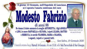 Modesto Fabrizio 13/01/2020