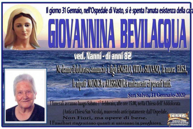 Giovannina Bevilacqua 31/01/2020
