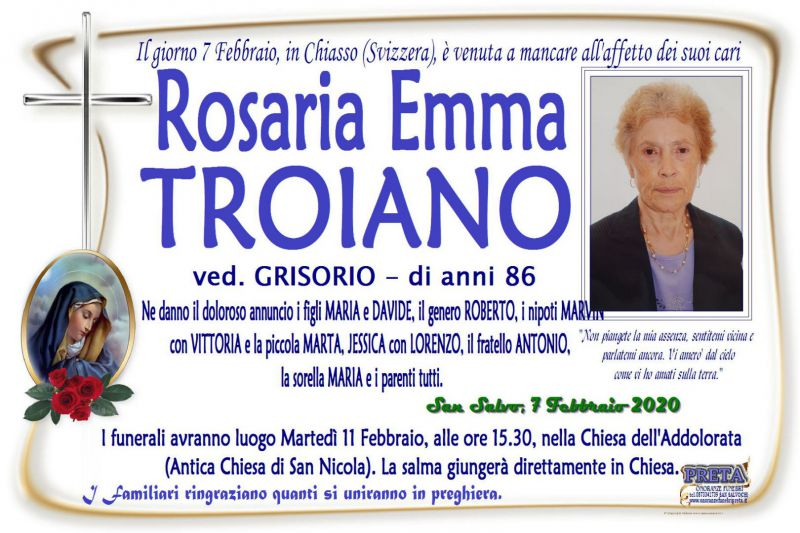 Rosaria Emma Troiano 7/02/2020
