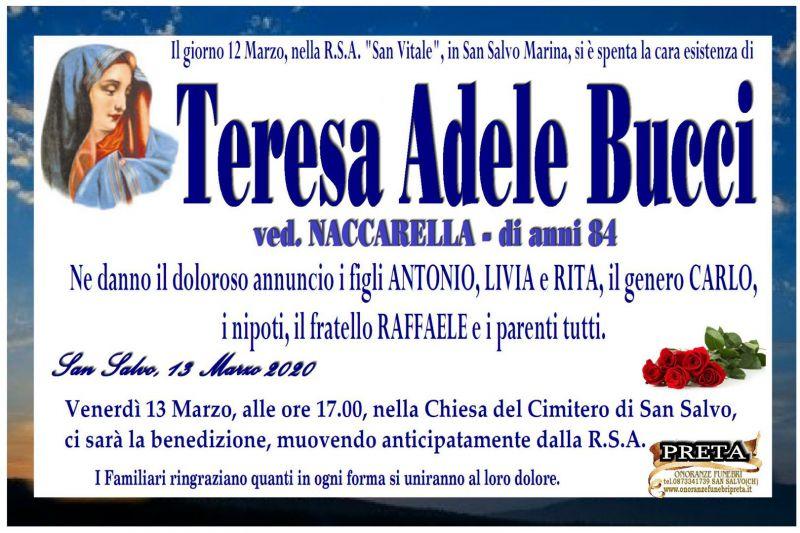 Teresa Adele Bucci 12/03/2020