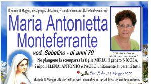 Maria Antonietta Monteferrante 11/05/2020