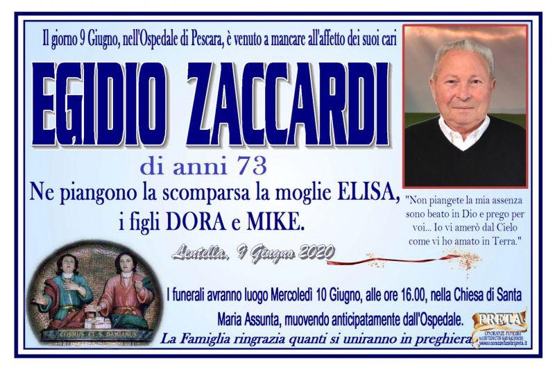 Egidio Zaccardi 9/06/2020