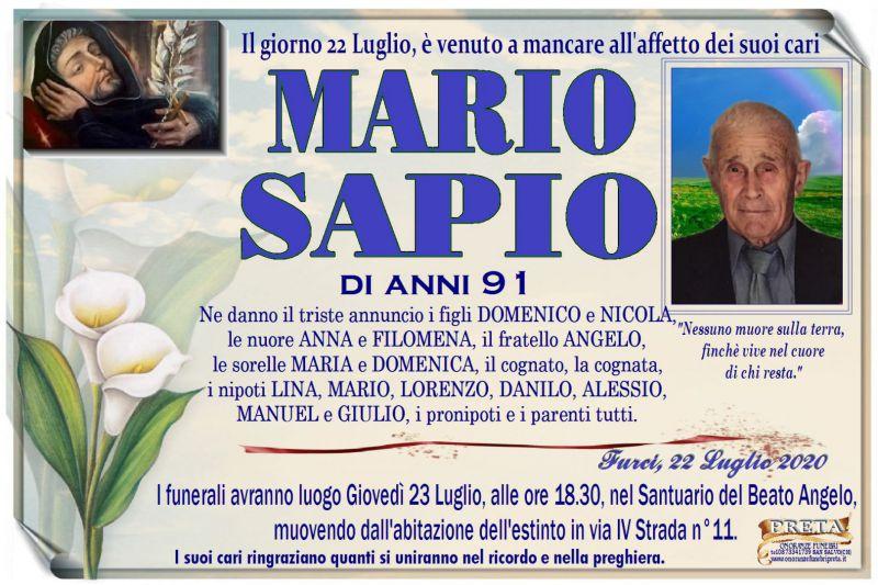 Mario Sapio 22/07/2020