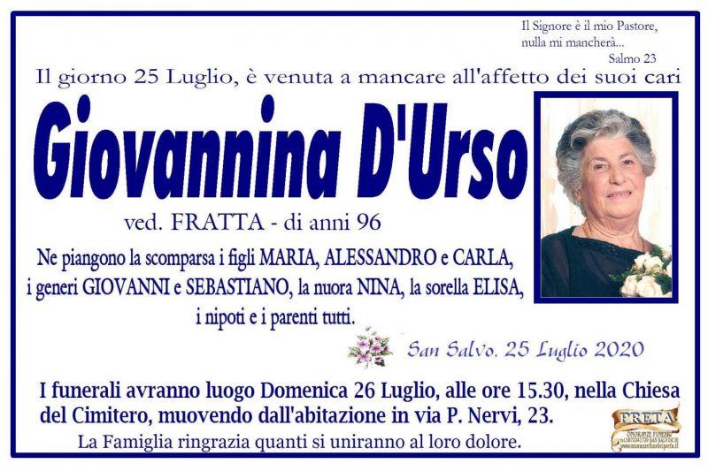 Giovannina D'Urso 25/07/2020