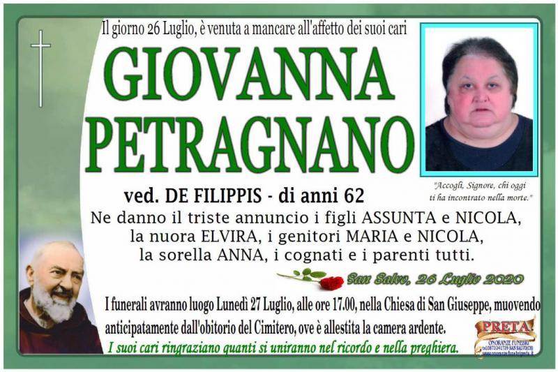 Giovanna Petragnano 26/07/2020