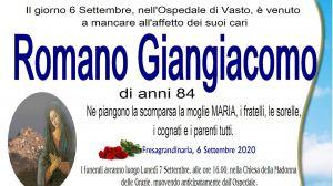 Romano Giangiacomo 6/09/2020