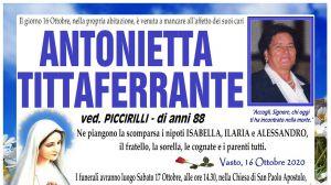 Antonietta Tittaferrante 16/10/2020