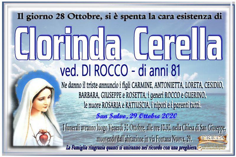 Clorinda Cerella 28/10/2020