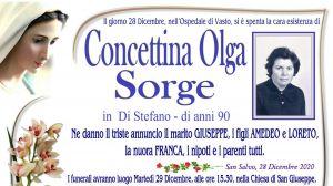 Concettina Olga Sorge 28/12/2020