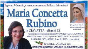 Maria Concetta Rubino 9/01/2020