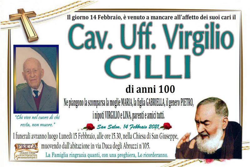 Cav. Uff. Virgilio Cilli 14/02/2021