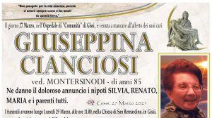 Giuseppina Cianciosi 27/03/2021