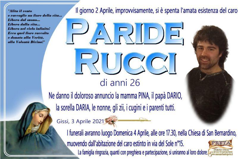 Paride Rucci 3/04/2021