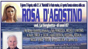 Rosa D'Agostino 31/08/2021