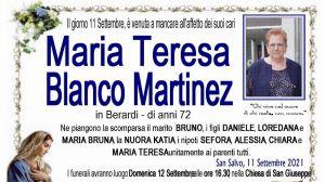 Maria Teresa Blanco Martinez 11/09/2021